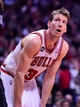Apr 14, 2014; Chicago, IL, USA; Chicago Bulls forward Mike Dunleavy (34) during the second quarter at the United Center. Mandatory Credit: Mike DiNovo-USA TODAY Sports