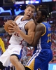 Apr 19, 2014; Los Angeles, CA, USA; Golden State Warriors forward Draymond Green (23) guards Los Angeles Clippers forward Blake Griffin (32) in the second half of game one during the first round of the 2014 NBA Playoffs at Staples Center. Warriors won 109-105. Mandatory Credit: Jayne Kamin-Oncea-USA TODAY Sports