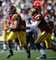 Apr 19, 2014; Los Angeles, CA, USA; Southern California tailback Ty Isaac (29) receives a hand off from Southern California quarterback Cody Kessler (6) during the Southern California Spring Game at Los Angeles Memorial Coliseum. Mandatory Credit: Kelvin Kuo-USA TODAY Sports