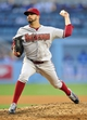 April 19, 2014; Los Angeles, CA, USA; Arizona Diamondbacks starting pitcher Oliver Perez (59) pitches the fifth inning against the Los Angeles Dodgers at Dodger Stadium. Mandatory Credit: Gary Vasquez-USA TODAY Sports