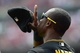 Apr 27, 2014; St. Louis, MO, USA; Pittsburgh Pirates left fielder Starling Marte (6) gives thanks after the National Anthem before a game against the St. Louis Cardinals at Busch Stadium. Mandatory Credit: Jeff Curry-USA TODAY Sports