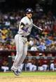Apr 30, 2014; Phoenix, AZ, USA; Colorado Rockies shortstop Troy Tulowitzki against the Arizona Diamondbacks at Chase Field. Mandatory Credit: Mark J. Rebilas-USA TODAY Sports