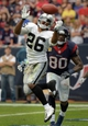 Nov 17, 2013; Houston, TX, USA; Oakland Raiders safety Usama Young (26) breaks up a pass intended for a Houston Texans receiver in the end zone with 1:10 to play at Reliant Stadium. The Raiders defeated the Texans 28-23. Mandatory Credit: Kirby Lee-USA TODAY Sports