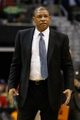 Dec 14, 2013; Washington, DC, USA; Los Angeles Clippers head coach Doc Rivers looks on from the sidelines against the Washington Wizards at Verizon Center. Mandatory Credit: Geoff Burke-USA TODAY Sports