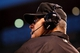 May 6, 2014; Denver, CO, USA; Third base umpire Gary Cedarstrom (38) listens over the headset after a challenge was called in the fifth inning of the game by the Colorado Rockies against the Texas Rangers at Coors Field. Mandatory Credit: Isaiah J. Downing-USA TODAY Sports