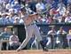 May 4, 2014; Kansas City, MO, USA; Detroit Tigers first basemen Miguel Cabrera (24) at bat against the Kansas City Royals during the eighth inning at Kauffman Stadium. Mandatory Credit: Peter G. Aiken-USA TODAY Sports