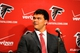 May 9, 2014; Atlanta, GA, USA; Atlanta Falcons first round draft pick tackle Jake Matthews listens during a press conference at Falcons Training Facility. Mandatory Credit: Dale Zanine-USA TODAY Sports