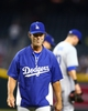 Sept. 17, 2013; Phoenix, AZ, USA: Los Angeles Dodgers manager Don Mattingly against the Arizona Diamondbacks at Chase Field. Mandatory Credit: Mark J. Rebilas-USA TODAY Sports