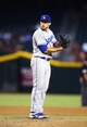 Sept. 17, 2013; Phoenix, AZ, USA: Los Angeles Dodgers pitcher Paco Rodriguez against the Arizona Diamondbacks at Chase Field. Mandatory Credit: Mark J. Rebilas-USA TODAY Sports