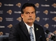 May 13, 2014; St. Louis, MO, USA; St. Louis Rams head coach Jeff Fisher looks on during a press conference at Rams Park. Mandatory Credit: Jeff Curry-USA TODAY Sports