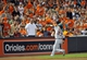 May 13, 2014; Baltimore, MD, USA; Detroit Tigers shortstop Andrew Romine (27) catches a pop-up by Baltimore Orioles first baseman Chris Davis (not shown) in the eighth inning at Oriole Park at Camden Yards. The Tigers defeated the Orioles 4-1. Mandatory Credit: Joy R. Absalon-USA TODAY Sports