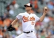 May 14, 2014; Baltimore, MD, USA; Baltimore Orioles pitcher Brian Matusz (17) throws in the ninth inning against the Detroit Tigers at Oriole Park at Camden Yards. The Tigers defeated the Orioles 7-5 completing the three game sweep. Mandatory Credit: Joy R. Absalon-USA TODAY Sports