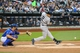 May 14, 2014; New York, NY, USA;  New York Yankees shortstop Derek Jeter (2) grounds into fielders choice to pitcher during the first inning against the New York Mets at Citi Field. Mandatory Credit: Anthony Gruppuso-USA TODAY Sports