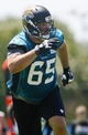 May 16, 2014; Jacksonville, FL, USA; Jacksonville Jaguars guard Brandon Linder (65) during rookie minicamp at Florida Blue Health and Wellness Practice Fields. Mandatory Credit: Phil Sears-USA TODAY Sports
