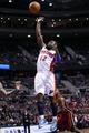 Mar 28, 2014; Auburn Hills, MI, USA; Detroit Pistons guard Will Bynum (12) shoots against the Miami Heat at The Palace of Auburn Hills. Mandatory Credit: Rick Osentoski-USA TODAY Sports