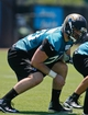 May 16, 2014; Jacksonville, FL, USA; Jacksonville Jaguars center Luke Bowanko (70) during Rookie Minicamp at Florida Blue Health and Wellness Practice Fields. Mandatory Credit: Phil Sears-USA TODAY Sports