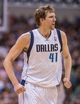 Apr 10, 2014; Dallas, TX, USA; Dallas Mavericks forward Dirk Nowitzki (41) during the game against the San Antonio Spurs at the American Airlines Center. The Spurs defeated the Mavericks 109-100. Mandatory Credit: Jerome Miron-USA TODAY Sports