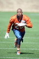 May 28, 2013; Englewood, CO, USA; Denver Broncos cornerback Chris Harris (25) works on rehab drills during organized team activities at the Broncos training facility. Mandatory Credit: Ron Chenoy-USA TODAY Sports