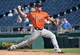May 28, 2014; Kansas City, MO, USA; Houston Astros pitcher Kyle Farnsworth (44) delivers a pitch against the Kansas City Royals  during the ninth inning at Kauffman Stadium. The Astros beat the Royals 9-3. Mandatory Credit: Peter G. Aiken-USA TODAY Sports