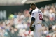 May 29, 2014; Minneapolis, MN, USA; Minnesota Twins relief pitcher Samuel Deduno (21) takes a moment before delivering a pitch in the first inning against the Texas Rangers at Target Field. Mandatory Credit: Jesse Johnson-USA TODAY Sports