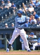 May 28, 2014; Kansas City, MO, USA; Kansas City Royals second basemen Jimmy Paredes (32) at bat against the Houston Astros during the seventh inning at Kauffman Stadium. Mandatory Credit: Peter G. Aiken-USA TODAY Sports