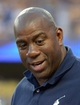 Jun 2, 2014; Los Angeles, CA, USA; Los Angeles Dodgers partner Magic Johnson attends the game against the Chicago White Sox at Dodger Stadium. Mandatory Credit: Kirby Lee-USA TODAY Sports