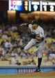 Jun 4, 2014; Los Angeles, CA, USA; Chicago White Sox relief pitcher Ronald Belisario (54) gets the save in the ninth inning of the game against the Los Angeles Dodgers at Dodger Stadium. White Sox won 2-1. Mandatory Credit: Jayne Kamin-Oncea-USA TODAY Sports