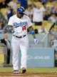 Jun 4, 2014; Los Angeles, CA, USA; Los Angeles Dodgers right fielder Yasiel Puig (66) tosses his bat after getting walked in the eighth inning of the game against the Chicago White Sox at Dodger Stadium. White Sox won 2-1. Mandatory Credit: Jayne Kamin-Oncea-USA TODAY Sports