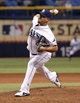 Jun 6, 2014; St. Petersburg, FL, USA; Tampa Bay Rays relief pitcher Joel Peralta (62) throws a pitch during the eighth inning against the Seattle Mariners at Tropicana Field. Tampa Bay Rays defeated the Seattle Mariners 4-0. Mandatory Credit: Kim Klement-USA TODAY Sports