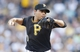 Jun 7, 2014; Pittsburgh, PA, USA; Pittsburgh Pirates relief pitcher Jeanmar Gomez (30) pitches against the Milwaukee Brewers during the eighth inning at PNC Park. The Brewers won 9-3. Mandatory Credit: Charles LeClaire-USA TODAY Sports