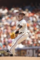 Jun 8, 2014; San Francisco, CA, USA; San Francisco Giants pitcher Tim Lincecum (55) prepares to deliver a pitch against the New York Mets in the third inning at AT&T Park. Mandatory Credit: Cary Edmondson-USA TODAY Sports