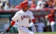 June 8, 2014; Anaheim, CA, USA; Los Angeles Angels shortstop Erick Aybar (2) hits a single in the seventh inning against the Chicago White Sox at Angel Stadium of Anaheim. Mandatory Credit: Gary A. Vasquez-USA TODAY Sports