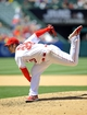 June 8, 2014; Anaheim, CA, USA; Los Angeles Angels starting pitcher C.J. Wilson (33) pitches the seventh inning against the Chicago White Sox at Angel Stadium of Anaheim. Mandatory Credit: Gary A. Vasquez-USA TODAY Sports