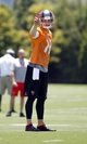 Jun 10, 2014; Tampa Bay, FL, USA;  Tampa Bay Buccaneers quarterback Josh McCown (12) gestures during minicamp at One Buccaneer Place. Mandatory Credit: Kim Klement-USA TODAY Sports