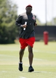 Jun 10, 2014; Tampa Bay, FL, USA;  Tampa Bay Buccaneers head coach Lovie Smith during minicamp at One Buccaneer Place. Mandatory Credit: Kim Klement-USA TODAY Sports