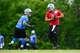 Jun 10, 2014; Detroit, MI, USA; Detroit Lions quarterback Matthew Stafford (9) looks to hand the ball off during mini camp at Detroit Lions training facility. Mandatory Credit: Andrew Weber-USA TODAY Sports