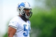Jun 10, 2014; Detroit, MI, USA; Detroit Lions linebacker DeAndre Levy (54) during mini camp at Detroit Lions training facility. Mandatory Credit: Andrew Weber-USA TODAY Sports