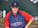 Jun 10, 2014; Baltimore, MD, USA; Boston Red Sox manager John Farrell (53) in the dugout during a game against the Baltimore Orioles at Oriole Park at Camden Yards. Mandatory Credit: Joy R. Absalon-USA TODAY Sports
