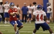 Jun 12, 2014; East Rutherford, NJ, USA; New York Giants quarterback Ryan Nassib (9) throws the ball during New York Giants minicamp at the Quest Diagnostics Training Center. William Perlman/The Star-Ledger-USA TODAY Sports