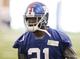 Jun 12, 2014; East Rutherford, NJ, USA; New York Giants cornerback Dominique Rodgers-Cromartie (21) participates during New York Giants minicamp at the Quest Diagnostics Training Center. William Perlman/The Star-Ledger-USA TODAY Sports