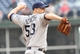 Jun 12, 2014; Philadelphia, PA, USA; San Diego Padres starting pitcher Eric Stults (53) pitches during the fifth inning of a game against the Philadelphia Phillies at Citizens Bank Park. Mandatory Credit: Bill Streicher-USA TODAY Sports