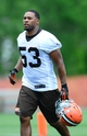 Jun 12, 2014; Berea, OH, USA; Cleveland Browns linebacker Craig Robertson during minicamp at Browns training facility. Mandatory Credit: Andrew Weber-USA TODAY Sports