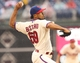Jun 12, 2014; Philadelphia, PA, USA; Philadelphia Phillies relief pitcher Antonio Bastardo (59) pitches during the seventh inning of a game against the San Diego Padres at Citizens Bank Park. The Phillies won 7-3. Mandatory Credit: Bill Streicher-USA TODAY Sports