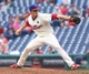 Jun 12, 2014; Philadelphia, PA, USA; Philadelphia Phillies relief pitcher Ken Giles (53) pitches during the ninth inning of a game against the San Diego Padres at Citizens Bank Park. The Phillies won 7-3. Mandatory Credit: Bill Streicher-USA TODAY Sports