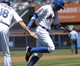 Jun 15, 2014; New York, NY, USA; New York Mets right fielder Curtis Granderson (3) rounds third base after hitting a home run during the first inning against the San Diego Padres at Citi Field. Mandatory Credit: Robert Deutsch-USA TODAY Sports