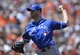 Jun 15, 2014; Baltimore, MD, USA;  Toronto Blue Jays starting pitcher J.A. Happ (48)  pitches during the second inning against the Baltimore Orioles at Oriole Park at Camden Yards. Mandatory Credit: Tommy Gilligan-USA TODAY Sports
