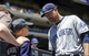 Jun 15, 2014; New York, NY, USA; San Diego Padres fan Dylan Headley meets third baseman Chase Headley (7) before the game against the New York Mets at Citi Field. Mandatory Credit: Robert Deutsch-USA TODAY Sports
