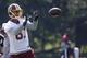 Jun 17, 2014; Ashburn, VA, USA; Washington Redskins wide receiver Cody Hoffman (87) catches the ball during minicamp at Redskins Park. Mandatory Credit: Geoff Burke-USA TODAY Sports