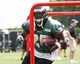 Jun 17, 2014; Philadelphia, PA, USA; Running back LeSean McCoy (25) runs drills during mini camp at the Philadelphia Eagles NovaCare Complex. Mandatory Credit: Bill Streicher-USA TODAY Sports