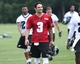 Jun 17, 2014; Philadelphia, PA, USA; Philadelphia Eagles quarterback Mark Sanchez (3) walks off the field at the conclusion of practice at mini camp at the Philadelphia Eagles NovaCare Complex. Mandatory Credit: Bill Streicher-USA TODAY Sports